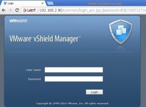 vShield Manager web-login page