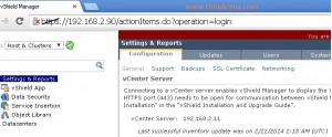 vcenter added to vShield inventory