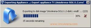 Exporting Appliance - In progress