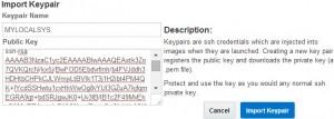 Importing keypair
