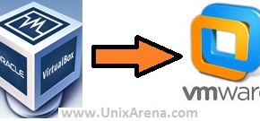 Oracle VM virtual box to VMware workstation