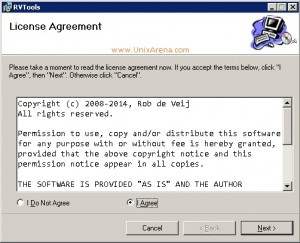RVtools License Aggreement