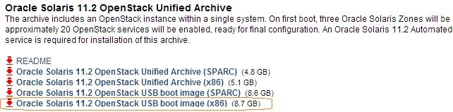Solaris 11.2 Openstack download