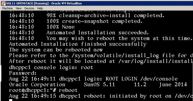 Reboot the system after installation