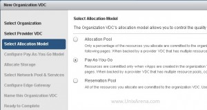 Select the allocation model