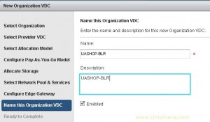 Organization's vDC
