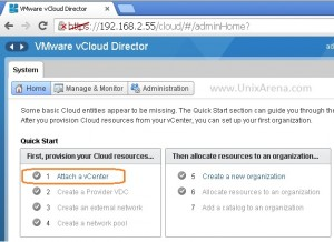 Attach vcloud director to vCenter server