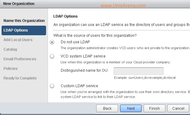 LDAP options