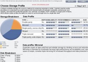 Select the Data profile