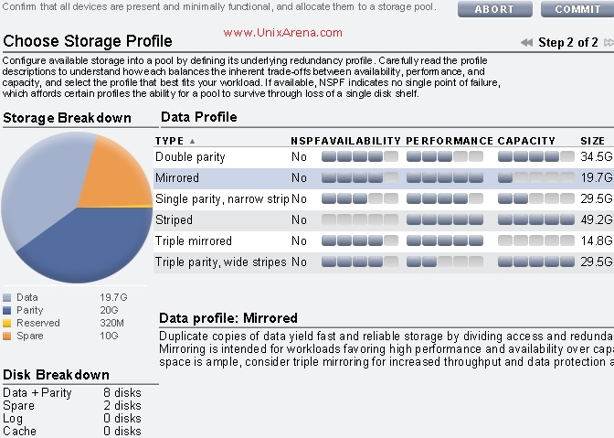 Select the Data profile