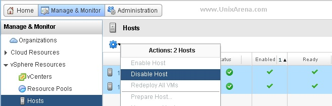 Disable the hosts