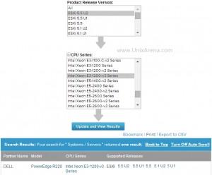VMware Hardware Compatibility  - search & update