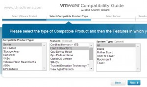 VMware Hardware Compatibility  - Select the system Type