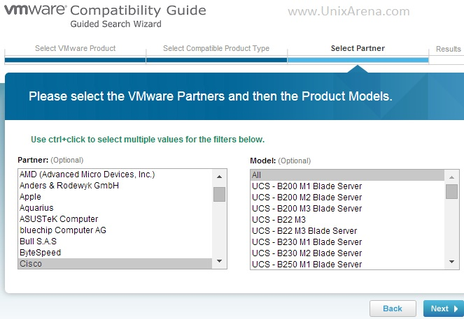 VMware Hardware Compatibility  - Select Hardware Vendor