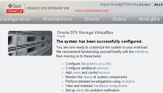 ZFS Storage Appliance