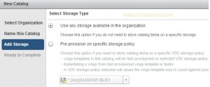 Adding the storage