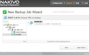 Creating the first backup job
