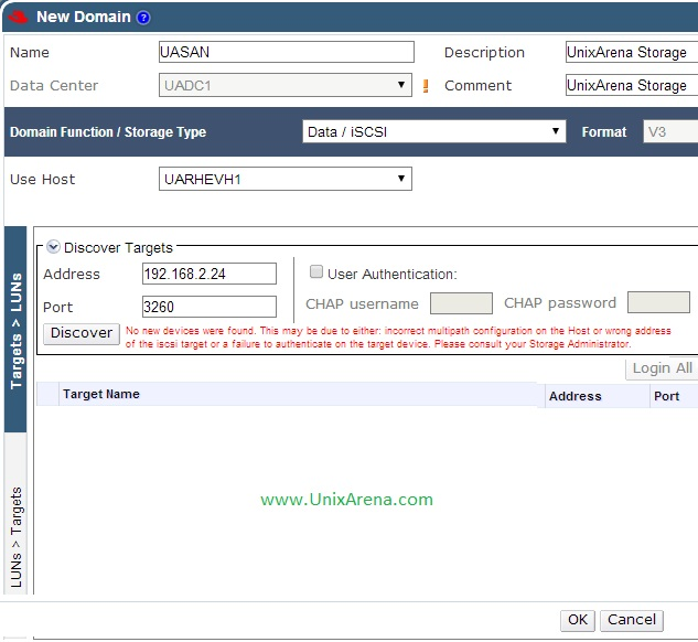 Enter the ISCSI server details 2