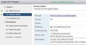Review the OVF template details
