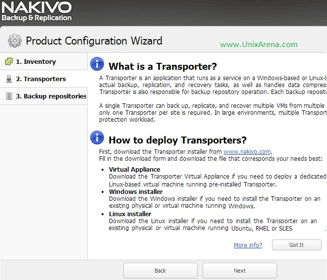NAKIVO Transporters