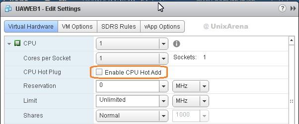 CPU Hot Plug Option