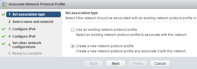 Network Protocol Profile creation