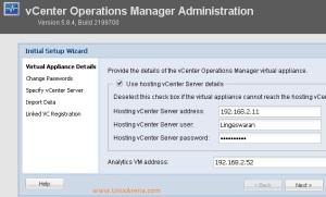 Enter the Appliance - vSphere info