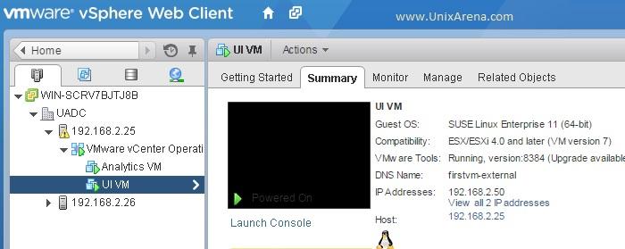 UI VM Status