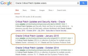 Oracle critical Patch update - Solaris