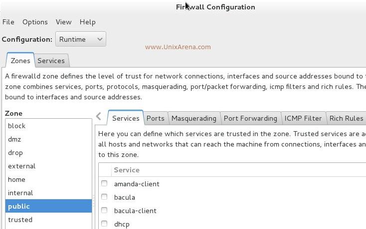 Firewall-config RHEL7