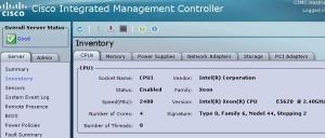CIMC  - CPU info