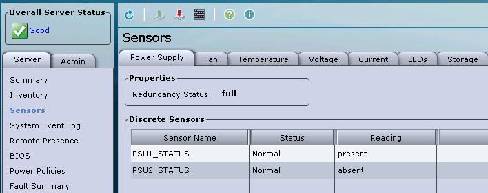 UCS - C- Series Sensor