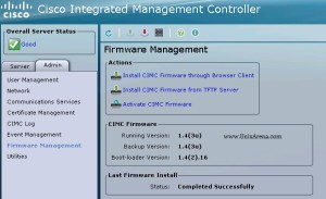 UCS CIMC - Firmware Management