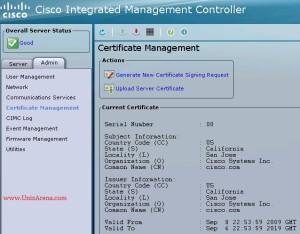 UCS CIMC certificate