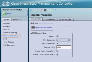 UCS Remote presence - KVM