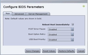 UCS configure BIOS