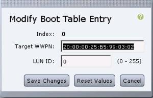 boot table - Modify