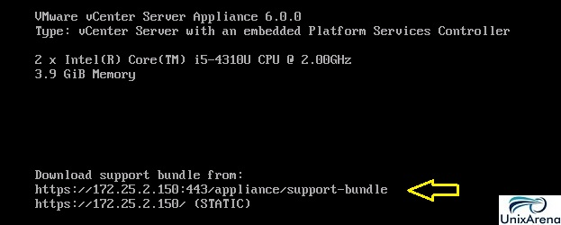 How to download support bundle from VCSA vCenter 6 0