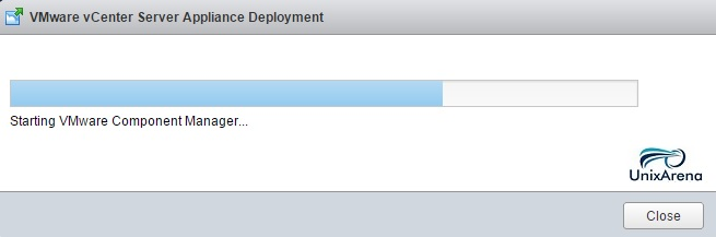 Status of the VCSA deployment