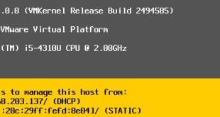 VMware vSphere 6.0 - Post Installation