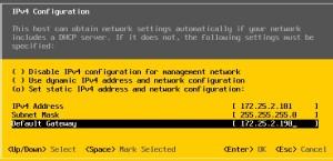 Set the static IP