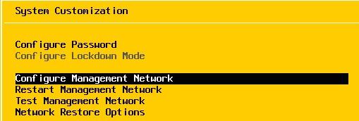 configure Management Network