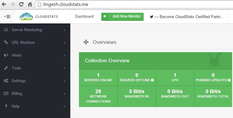 Cloudstat - Dashboard