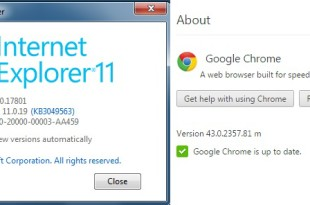 chrome & IE