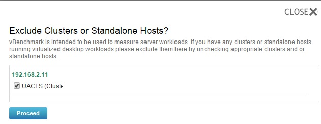 Exclude/Include - Hosts/Cluster