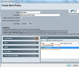 Cisco UCS boot Policy