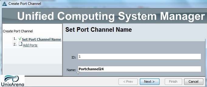 Configure port channel- SAN