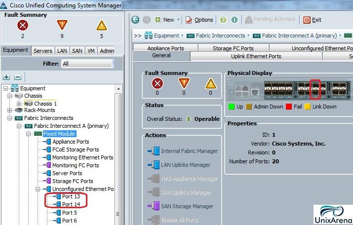 Configure the FI ports