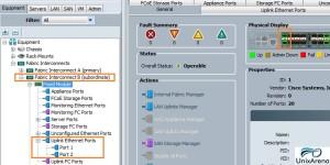Configuring the LAN uplinks on FI - B