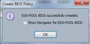 Create BIOS policy